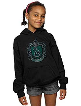 Harry Potter niñas Slytherin Distressed Crest Capucha