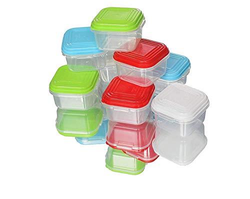 NEEZ Juegos de recipientes para Cereales Pasta, Fiambreras, Sin BPA, Almacenamiento de Alimentos, Almacenamiento y organización, Almacenamiento de Cocina y despensa (Pack of 16x120ml)