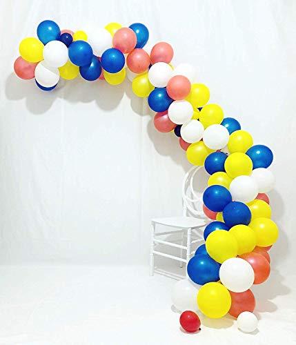 & Garland Kit | Blaue und weiße Luftballons 102 Stück 12 Zoll rote Luftballons Königsblau Luftballons weiße Luftballons gelbe Luftballons Boy Baby Shower Dekorationen ()