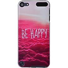 """TechButik Funda para Apple iPod Touch 5G / iPod Touch 6G (4.0"""") Hard PC Case Bumper Carcasa Dura Ligero Flexible Cubierta de Protección Trasera Contra Polvo Anti Rayas Lifeproof Red Clouds Motivo Imagen Originale Diseño Creativo"""