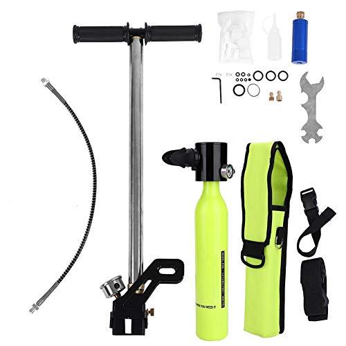 Sorand Tauchausrüstung, Tragbare Leichte Tauchausrüstung Mit Luftfahrt-Aluminium-Respirator-Sauerstoffflaschen und Hochdruckpumpe -