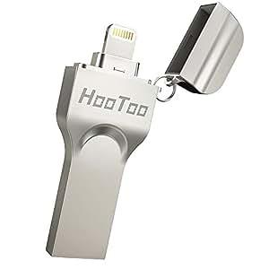 USB iPhone HooToo Chiavetta/Flash Drive iPhone 128G (MFi certifacato) con Connettore Lightning più Lungo, USB 3.0 per iPad, iPhone Macbook, Connetti per Accesso Immediato, Rivestimento in Lega Metallica