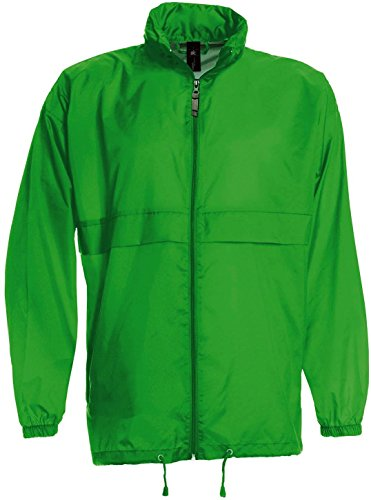 Windbreaker 'Sirocco', Farbe:Real Green;Größe:XXL XXL,Real Green (Windbreaker Zip Nylon Full)