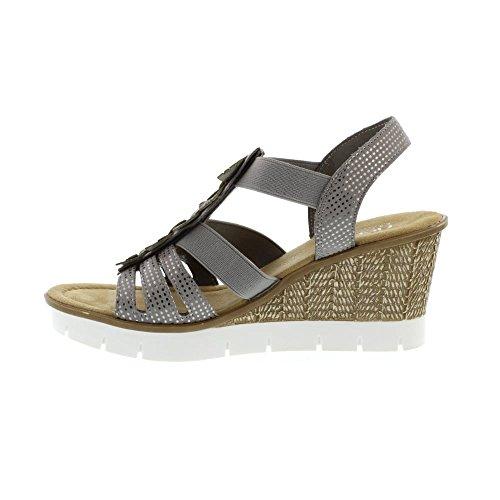 Sandales Sangle Avec Rieker Blanche 9o2nBs