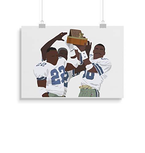 Dallas Cowboys inspirierte Poster - Zitat - Alternative Sport/Amerikanischer Fußball Prints in verschiedenen Größen (Rahmen nicht im Lieferumfang enthalten) (Cowboy Dekor Dallas)