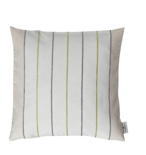 TOM TAILOR 575100 Kissenbezug ohne Füllung T-Casual Stripes 40 x 40 cm, natur / grün