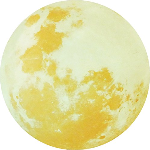 Paraboo Leuchtmond selbstklebend 50cm gelb ideal als Kinderzimmer Wandtattoo Leucht Mond sowie als Wandsticker, ohne Leuchtpunkte