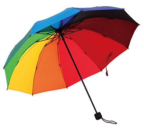 HorBous Triple sombrilla Plegable Rainy Sunny Days