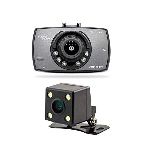 2.7 inch 6 Lights Night Vision Dual Lens Car DVR Camera Full HD 1080P Wide Angle External Rear Camera H.264 G-Sensor Dash Cam - Dual Lens Hd Light