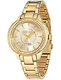 JUST CAVALLI Damen - Armbanduhr JC01 Analog Quarz Edelstahl R7253571501