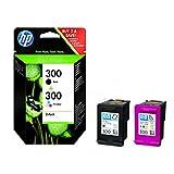 HP original - HP - Hewlett Packard Envy 100 e-All-in-One (300 / CN637EE#301) - 2 x Druckkopf Multipack (schwarz, cyan, magenta, gelb) - 300 Seiten - 4ml