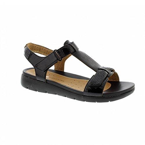 Clarks Frau Sandalen Un Haywood, Leder Gre 40 Schwarz (Leder Pflege Schuhe Patent)