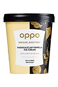 Oppo Ice Cream Madagascan Vanilla Ice Cream with a Hint of Baobab, 500ml (Frozen)