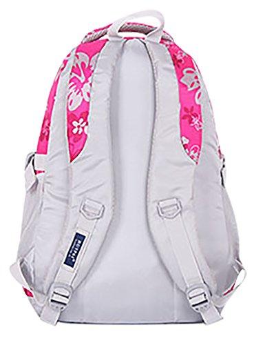 SellerFun® Kid Child Girl Flower Printed Waterproof Backpack School Bag(Rose,Small)