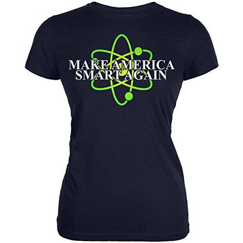 Old Glory Make America Smart Wieder Junioren Soft T-Shirt Navy X-LG (Damen-t-shirt Old Navy)