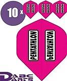 ABC Darts Unisex - Adulto Pentathlon Classic Dart Flights, Rosa Classico