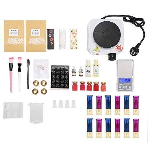Jadpes DIY Lippenstiftform Set Hausgemachte Lippenbalsam Handwerk Tool Kit Farbe Pulver Bienenwachs Lippenstift Enthalten 12 Lippenstift Materialien