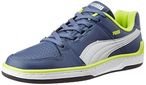 Puma Men's Unlimited Lo DP Dark Denim, Lime Punch and Puma Silver Sneakers – 9 UK/India (43 EU) 41h7QFlbnaL