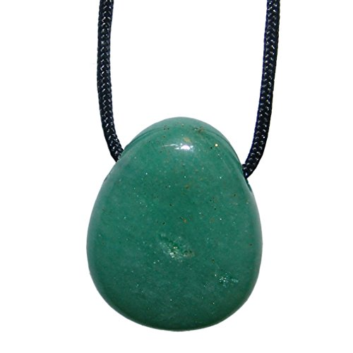 Aventurin grün und viele andere Steinsorten flache Edelsteine/Trommelsteine Anhänger gebohrt