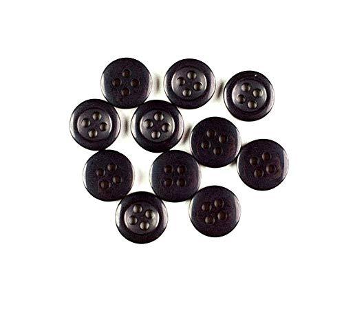 Knöpfe mit 4 Löchern, 12 mm, Schwarz, 1.000 - Kunst Stück Kostüm