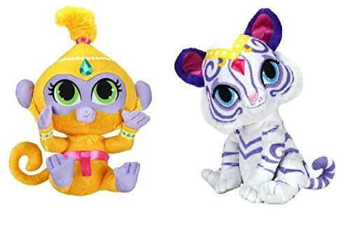 set-of-2-fisher-price-7-inch-shimmer-and-shine-mini-plush-tala-nahal-by-wicked-cool-toys