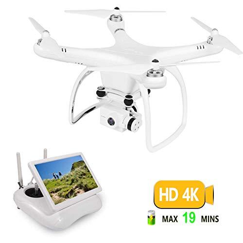 UPair Drohne mit 4K HD Kamera, RC Quadrocopter 5.8G FPV Liveübertragung mit 120° Aufnahmewinkel, GPS/Optisches Flusspositionierungssystem, Flugplananpassung, One Key Return, Ideal für Anfänger -