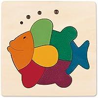 Hape - Puzzle encajable infantil arcoíris Pez (Barrutoys E6502)