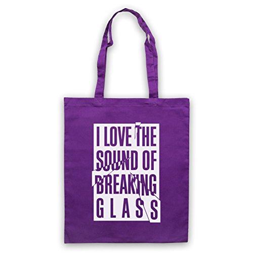 Inspiriert durch Nick Lowe Breaking Glass Inoffiziell Umhangetaschen Violett