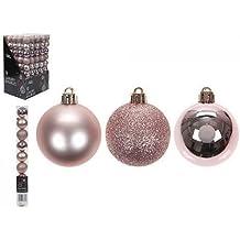 18 x Gold Rose 50 mm Weihnachten Kugeln Ornaments Xmas Party Weihnachtsbaumschmuck Weihnachtskugeln