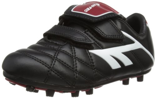 Hi-Tec Unisex-Child League Pro Moulded EZ Football Boots - Black (Black/White/Red 021), 6 Child UK (39 EU)
