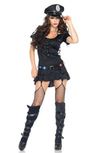 ergeant Sexy Kostüm, Größe L, schwarz ()