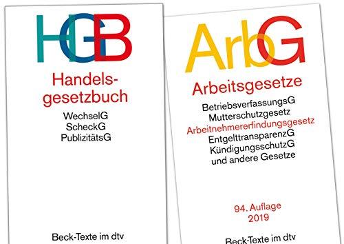 Handelsrecht und Arbeitsrecht Gesetzestexte im Set als Prüfungsset (HGB+ArbG neue Versionen)