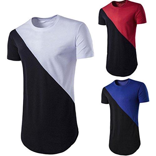 fashion-original-o-neck-camiseta-de-colores-mixtos-de-empalme-de-la-bandera-del-pais-con-manga-corta