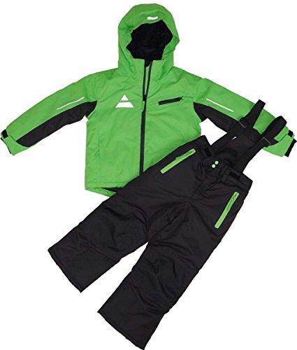 Maylynn Softshell Kinder Skianzug Schneeanzug 2-teilig grün/schwarz, Größe:110 - 116