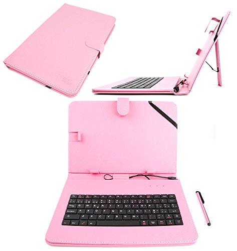 DURAGADGET Funda / Teclado QWERTY ESPAÑOL Rosa Para Asus ZenPad 10 (Z3000CG)...