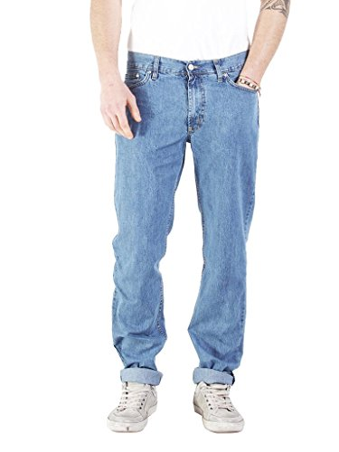 Carrera jeans basic jeans a gamba dritta, blu (super stone washed), w38/l34 (taglia produttore:54) uomo