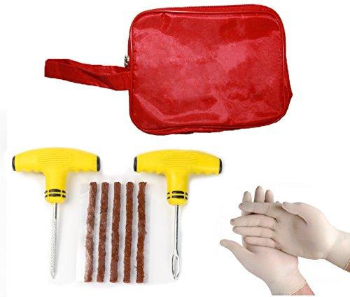 TYRE DOCTOR ® Kit di riparazione pneumatici con utensili con manico morbido
