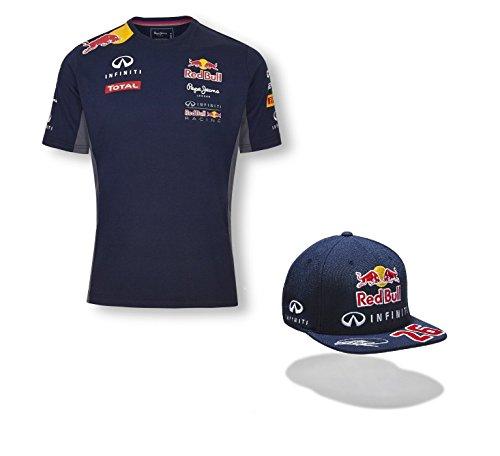 infiniti-red-bull-racing-teamline-formel-1-f1-herren-t-shirt-kwjat-flach-peak-cap-herren-blau-l