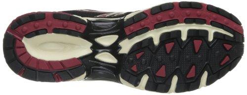 Hi-Tec R156 Synthétique Chaussure de Course Charcoal-Black-Red