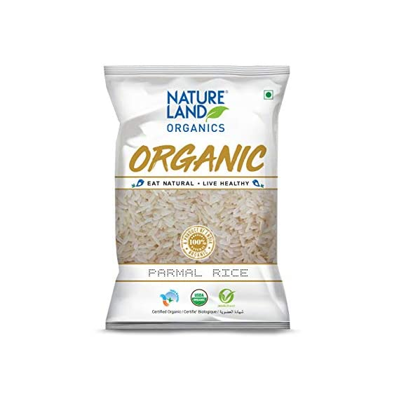 Natureland Organics Parmal Rice 1 Kg (Pack of 2) Total 2 KG - Organic Rice