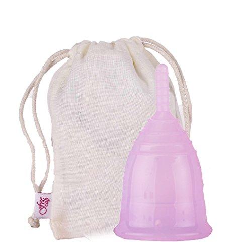 Fee Menstruationstasse Slim (lila) inkl. Stoffbeutel zur Aufbewahrung - 100% medizinisches Silikon, hypoallergen, Menstruationskappe, FDA zertifiziert.