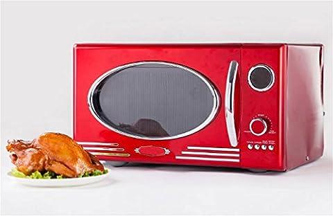 WX Metall Roter Klassischer Retro-Mikrowellenherd , Red , 48.3 X 35.6X 28Cm,red,48.3 x 35.6x 28cm