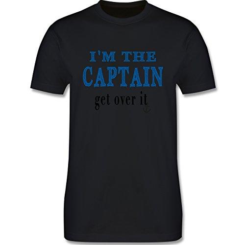 Schiffe - I'M THE CAPTAIN - get over it - Herren Premium T-Shirt Schwarz
