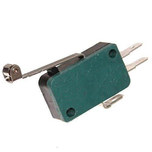Mikrotaster Microswitch Öffner Schließer Taster Einbau Mikroschalter Endschalter Wippe Rolle Pinball Joy-Button (Schließer / Öffner mit Rolle)