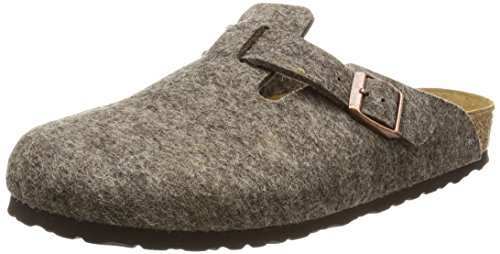 Birkenstock Classic Boston Wolle Unisex-Erwachsene Clogs Braun (Cacao)