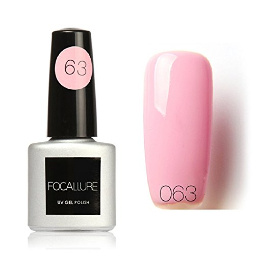7ml Colle à ongles,Sisit Focallure 95 Couleurs Solide Couleur Gel Polonais Nail Art Gel Polonais UV LE (Modèle H)