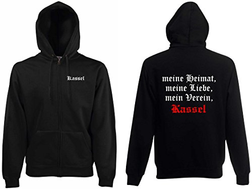 world-of-shirt Herren Kapuzenjacke Kassel Ultras meine Heimat