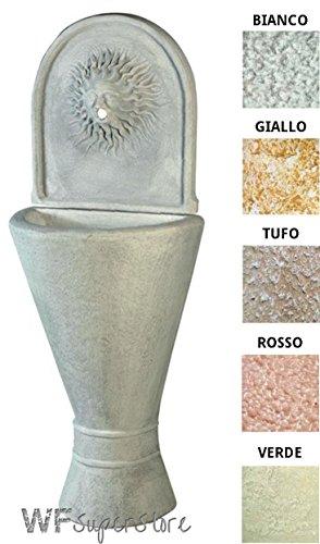 Fontana anticata in pietra ricostruita te lisa - fontanella esterno giardino (tufo)