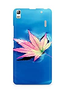 AMEZ Pink small fresh leaves Back Cover For Lenovo A7000