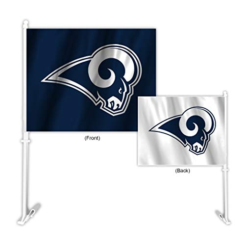Fremont Die NFL Los Angeles Rams Home and Away Auto-Flagge, Teamfarben, 29,5 x 36,8 cm -